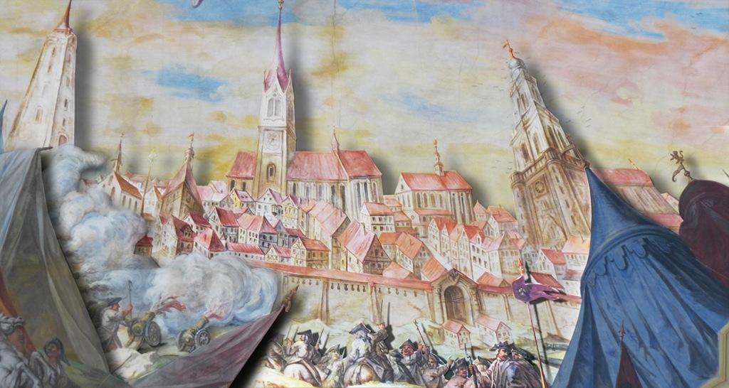Rottweil, historisch, 1643, Marshall, Guebriant,Freie-Reichsstadt-Belagerung, Predigerkirche, Wannenmacher, Deckengemälde, Maria, Augenwende